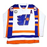 boriz Doug Glatt Halifax Hockey Jersey Includes EMHL and A Patches Stitch Size Pt1 (42) White