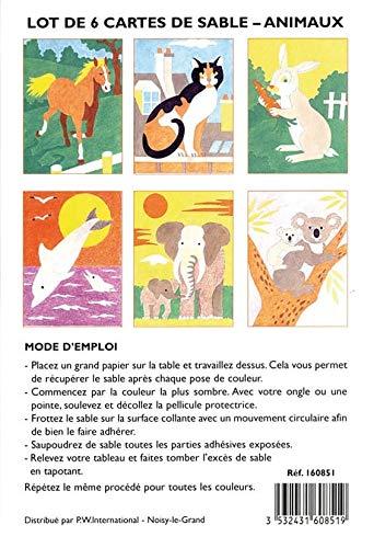 Lot 6 Cartes De Sableu Animaux