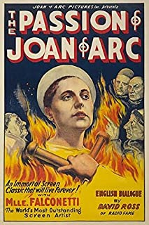 A silent era film poster entitled The Passion of Joan of Arc showing Rene Maria Falconetti as Joan of Arc surround by flames Poster Print by Eloquent Press (18 x 24)