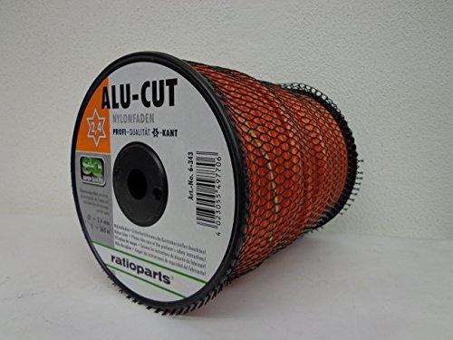 Ratioparts Nylonfaden 2,7 mm Alu-Cut 240 m Trimmerfaden 6-Kant Mähfaden, Orange