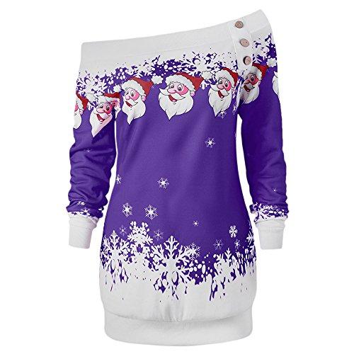 Santa Claus Snowflake Pullover Sweatshirt