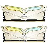 TEAMGROUP T-Force Night Hawk Legend RGB 3600MHz 32GB Kit (2x16GB) CL18 DDR4 SDRAM (PC4-28800) Desktop Memory Module Ram TF7D432G3600HC18JDC01 - Gold
