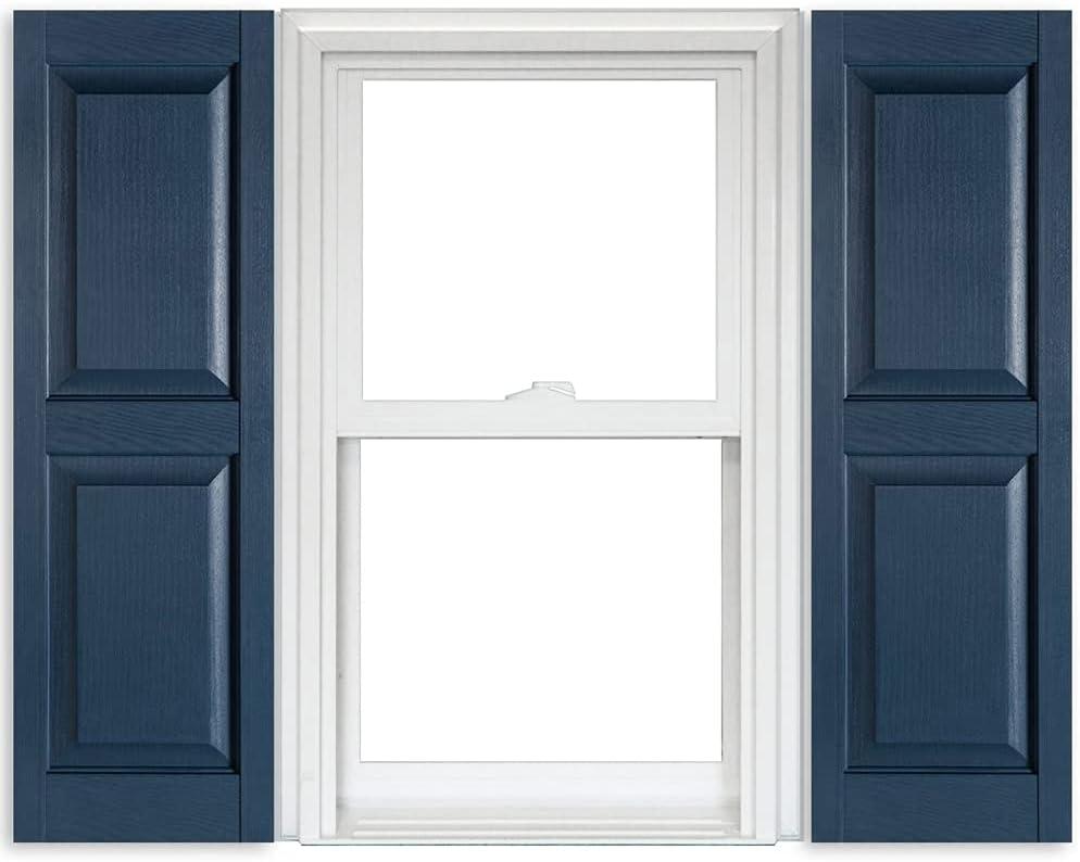 Max 54% OFF Polaris Vinyl Raised Panel Shutters 1 Ranking TOP12 Pair Blue - Bedford 004