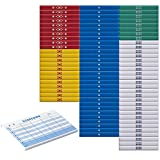 麻雀カラー点棒フルセット + 8段100枚綴りスコア記録帳【得点帳】1冊付