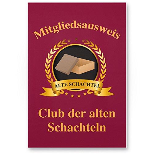 DankeDir! Clubausweis alte Schachteln Kunststoff Schild - Geschenk runder Geburtstag Geschenkidee Geburtstagsgeschenk sie Geburtstagsdeko Partydeko Party Zubehör Geburtstagskarte