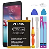 ZMax Pro Z981 Battery ZURUN 3900mAh Li-Polymer Battery Replacement for ZTE Grand X Max 2 Z988 Z983/ZMax Pro Z981 Li3934T44P8H876744 with Repair Replacement Kit Tools