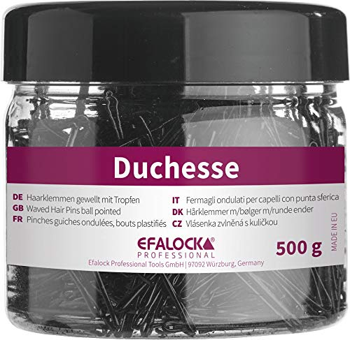 Efalock Professional Duchesse Haarklemmen, 5 cm, gold, 1er Pack, (1x 500g)