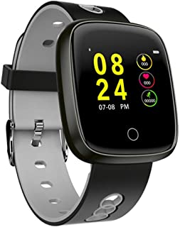 SHOUHUAN Bluetooth Smart Watch Pantalla táctil, Sport Fitness Tracker, Pulsera Inteligente Impermeable IP67, Reloj Inteligente, Smartwatch Compatible Android iOS Gray