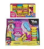 Product Image of the Play Doh Trolls World Tour Rainbow Hair Poppy Styling Play Set + Play Doh...