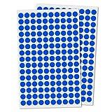 3000 Stück, 10mm Punktaufkleber Klebepunkte Aufkleber Etiketten Markierungspunkte Selbstklebende - Blau