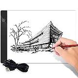 ODOMY Panel de luz LED A4, portátil, brillo regulable, con cable USB, ideal para colorear, bocetos, animación, dibujo