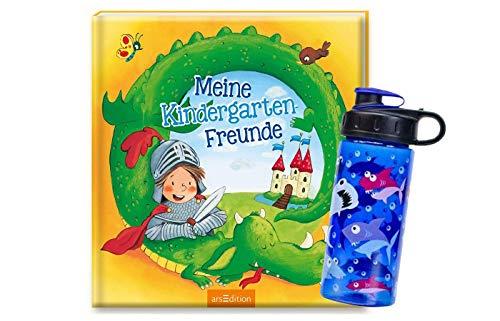 Ars Edition Meine Kindergarten-Freunde (Ritter) + 1. Coole Trinkflasche, ideal für den Kindergarten-Start