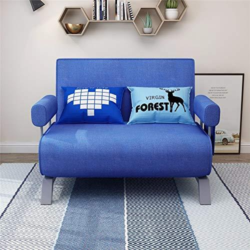 ZzheHou Cama Plegable Sofá Cama Plegable Ajustable Diseño Almacenamiento fácil Ahorro de Espacio Interior for Ministerio del Interior (Color : Azul, Size : 186x80cm)