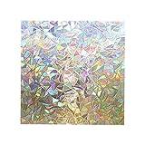 Fenteer Película de Vidrio de Ventana teñida Decorativa Adhesiva estática de plástico para el hogar, Oficina, baño, Puerta corredera, Ventana de privacidad, 45X300cm