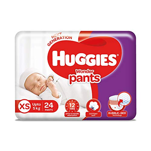 Huggies Wonder Pants, Extra Small (XS) (0 - 5 kg), 24 Count