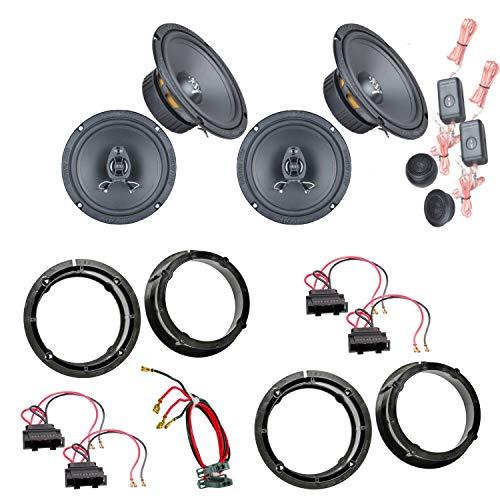 Lautsprecher Einbauset kompatibel mit Seat Leon 1M Toledo vorne hinten Ground Zero GZIC 16X GZIF 65X Lautsprecher vorne und hinten 2-Wege 3 Ohm