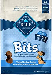 Healthy Dog Treats For Puppies - Blue Bits Tasty Chicken Training Treats.