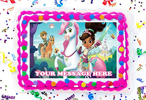 Nella the Princess Knight Personalised Edible Image REAL Icing Cake Topper