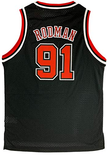 Outerstuff Dennis Rodman Chicago Bulls #91 Black Youth Throwback Soul Swingman Jersey (Medium 10/12)