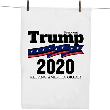 Embroidered  Kitchen BAR Hand Towel  TRUMP 2020 w Stars  POLITICIAN President