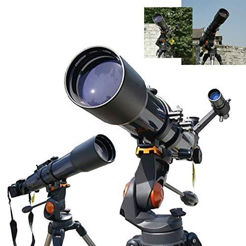 LFDHSF Telescopio, binoculares astronómicos de refracción del Cielo y la Tierra para niños Observación de la Luna al Aire Libre para observar Las Estrellas, buscador óptico 6X30 Espejo Capa Multicapa