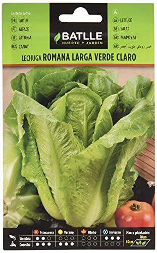 Semillas Hortícolas - Lechuga Romana larga verde claro - Batlle