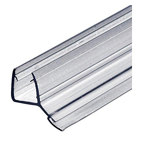 Gedotec Ersatzdichtung 200 cm Duschdichtung 135° Glastür-Dichtung gerade Bodendichtung für Duschkabinen & Glastüren   PVC Transparent   Dichtlippe für Glasdicke 8-10 mm   1 Stück - Türdichtung Glas