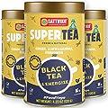 Sattviko Black Tea Energize - Black Tea | Energy Booster Tea | Energy Herbal Tea | Natural & Healthy Coffee substitute | Metabolism Booster tea | Increases energy and focus | Foodyoga - 3 Jars, 4.23 oz each, 12.69 oz