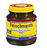 Fleischmann's Bread Machine Yeast, Also Ideal for All Rapid Rise Recipes, Equals 16 Envelopes, 4 oz...
