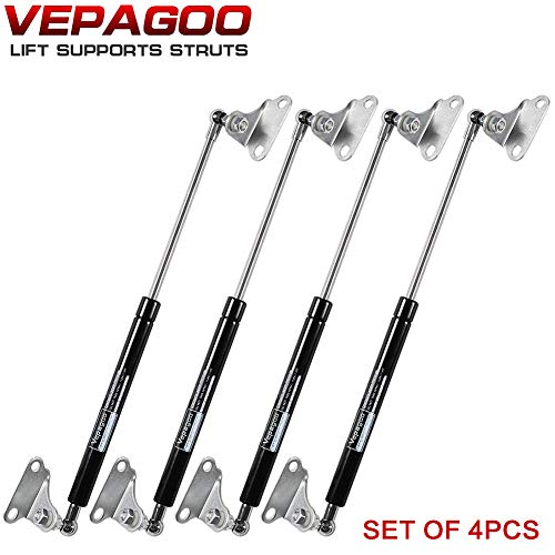 15 inch 67lb Gas Shock Strut for Heavy Duty Toolbox RV Bed Cover Trap Door Window Boat Hatch and Other DIY Project, set of 4 Vepagoo.