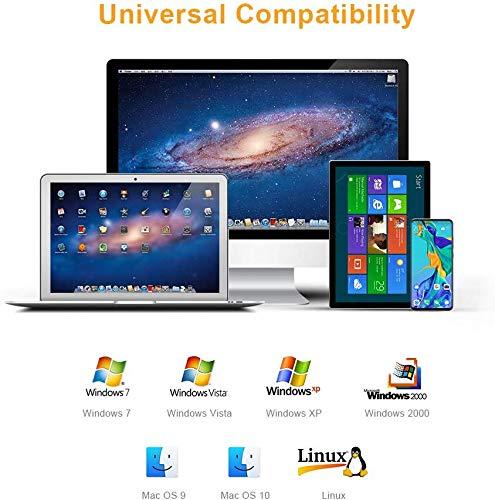 CableCreation USB C auf Ethernet Adapter, USB Typ-C zu RJ45 Gigabit LAN Netzwerkkabel Kompatibel mit MacBook Pro, iMac, Chromebook Pixel, Dell XPS 13/15, Schwarz&Weiß (Thunderbolt 3 Kompatibel), 10cm