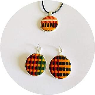 Kente Cloth Necklae/Earrings