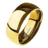 Mianova Band-Ring Edelstahl Herrenring Damenring Partnerring Trauring Verlobungsring Damen Herren Gold Größe 63 (20.1) Breit 8mm