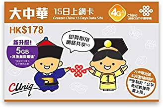 China Unicom Greater China 15 Days Data SIM