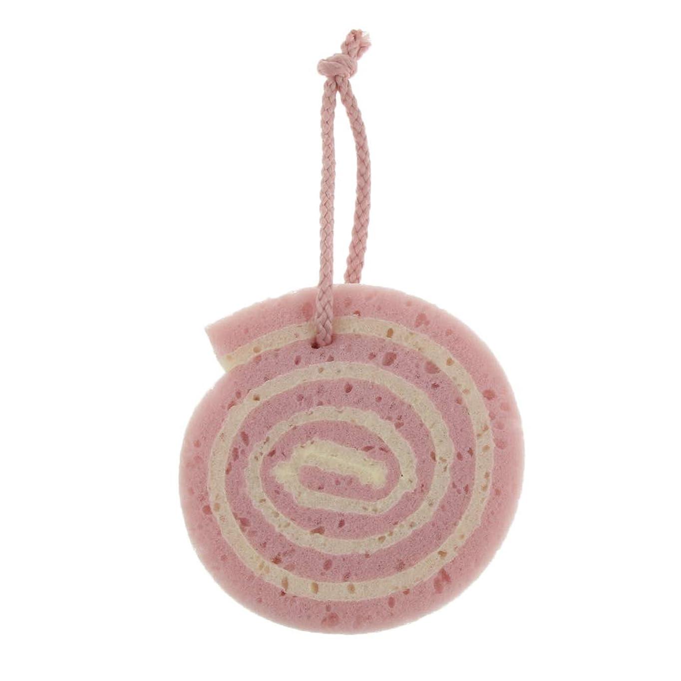 飢え真夜中サラミFLAMEER ボディスポンジ バスグッズ 子供シャワー スクラブスポンジ 3色選べ - ピンク