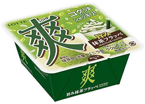 ロッテ 爽 旨み抹茶フラッペ 抹茶&バニラ 185ml×18個