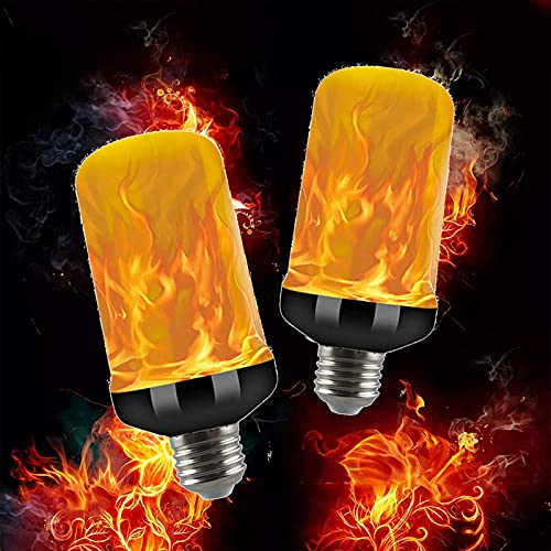 LED Flame Light Bulbs, E14 Base LED Flickering Flame Bulb With Upside Down Effect Vintage Flame Effect Lighting For Indoor/outdoor, Holiday Decoration (4 Modes)