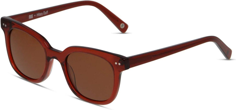 Hilary Duff Muse Clara Square Women Designer Sunglasses UV Predection Nonpolarized