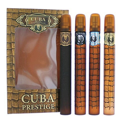Cuba Variety 4 Piece Set For Men (Gold 1.17 Eau De Toilette Spray/Blue 1.17 Eau De Toilette Spray/Red 1.17 Eau De Toilette Spray/Orange 1.17 Eau De Toilette Spray)