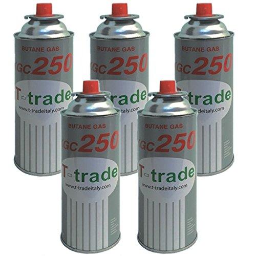 Bombonas de gas butano, paquete de 5piezas de 250g para hornillo de campamento o de casa