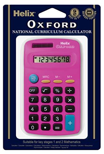 Oxford 979119 Helix rekenmachine, roze