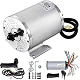 BestEquip Electric DC Motor, 2KW 48V Brushless Motor Kit 4300rpm High Speed Electric Scooter Motor for Bicycle Motorcycle with Mounting Bracket, Speed Controller, Throttle, Keylock