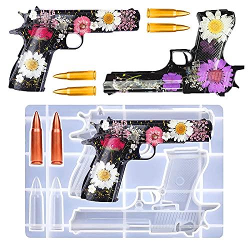 Qincos Resin Gun Molds, Silicone Resin Gun Molds Bullet Molds for Resin Casting,...