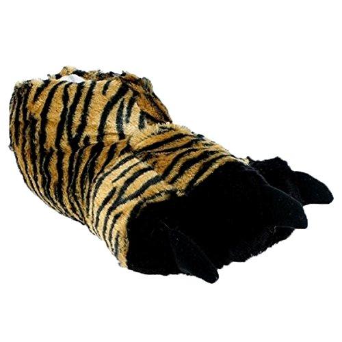 buyAzzo Herren Tiger Hausschuhe Plüsch Tigerkralle Monster Schuh Pantoffel Komfort Warmfutter Winter Herbst BA510910 (43/44)