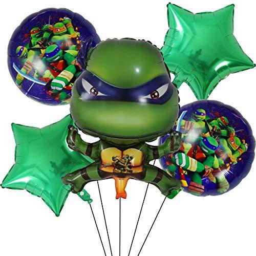 Decoración de Fiesta de Cumpleaños Tomicy 5 pcs Tortugas Ninjas mutantes Adolescentes