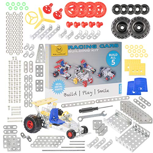 Maluvrian Erector Set Stem Toys Educational Kids Toys | Construction Toys for Boys & Girls | Metal Erector Sets | Building Toys for Boys Age 8-12 Years Old | 236-pc Building Kit
