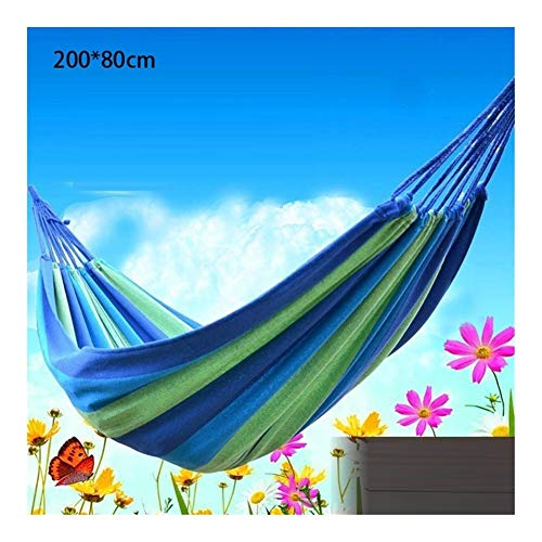 Gaorb040703 Outdoor Canvas Pastoral Swing Hammock Outdoor Single 2-person Dormitory Camping Hammock 200 * 80 200 * 100 200 * 150cm Hanging Chair Camping accessories (Color : B80)