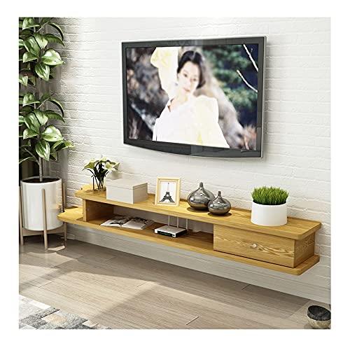 DRAGDS Mueble de Tv de la Consola de Medios Gabinete Montado en la Pared Adecuado para Sala de Estar, Oficina, Entretenimiento, 5 Colores Disponibles/C / 110 × 23 × 18Cm,E,150 × 23 × 18Cm