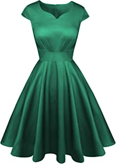 Kingfancy 50s Homecoming Dress, 1950 Cocktail Vintage Dress Sweetheart Neck Prom Bridesmaid Dress