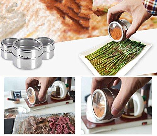 Bazaar RVS Spice Shaker Jar Suiker Zout Peper Kruiden Tandenstoker Opbergfles voor BBQ